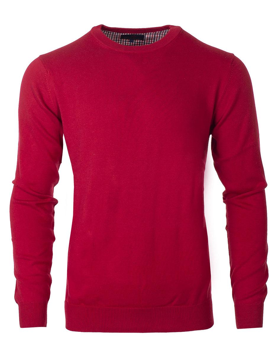 Pánsky bavlnený sveter Jack červený XXL