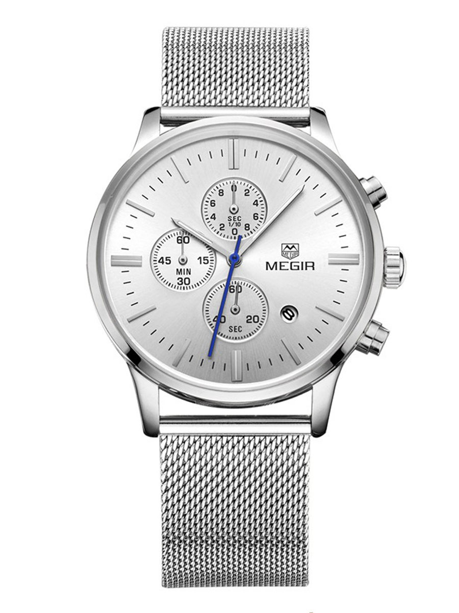 Mens Watch Wrench Silver