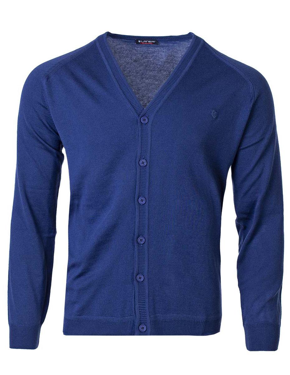 Pánsky sveter na gombíky Jared tmavomodrý XXL