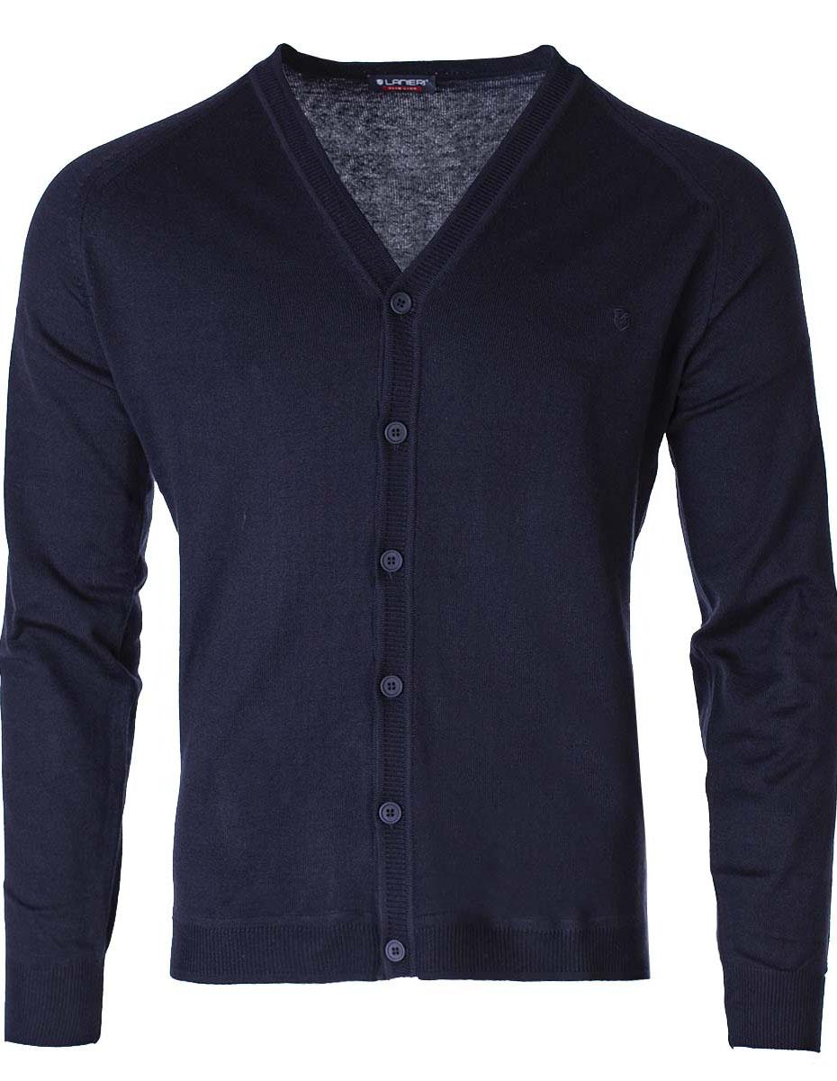 Pánsky sveter na gombíky Jared navy XXL