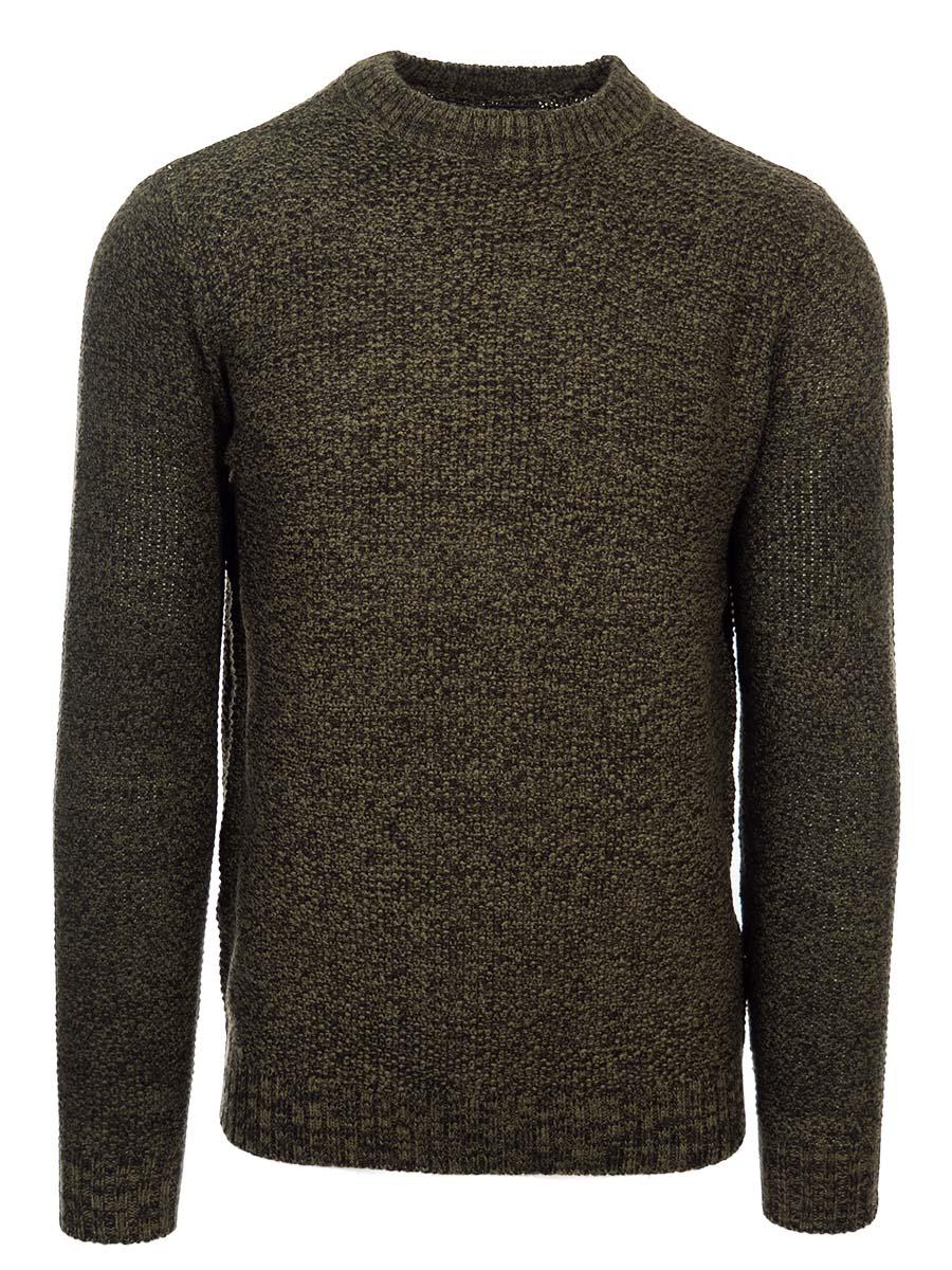 Pánsky sveter s guľatým výstrihom Alberto khaki M