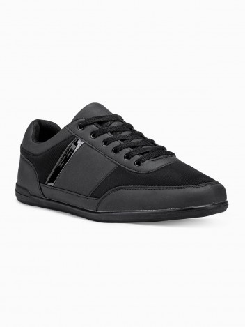 Ombre Clothing Men's casual sneakers T338 - black