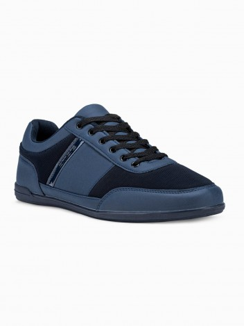 Ombre Clothing Men's casual sneakers T338 - navy