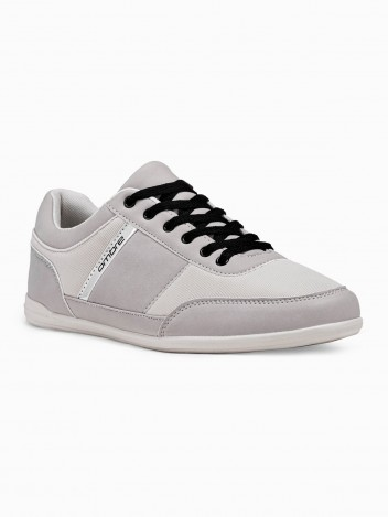Ombre Clothing Men's casual sneakers T338 - grey
