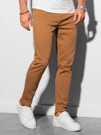 Ombre Clothing Pánske chinos nohavice Edit camel