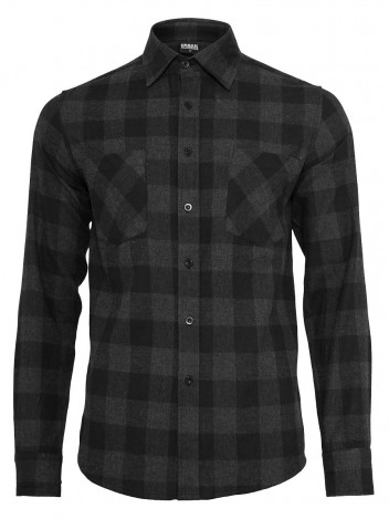 Mens Flanell Shirt Miner Black S