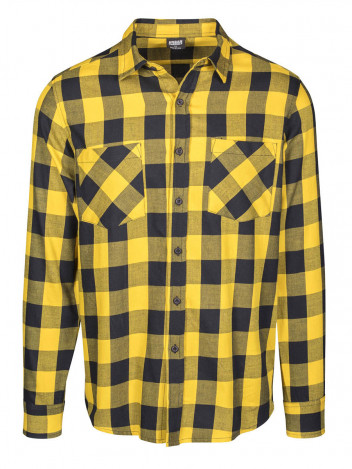 Mens Flanell Shirt Wasp Yellow S